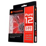VENTILADOR THERMALTAKE PURE 12 LED ROJO/120MM/1000 RPM/19.5 DBA - TiendaClic.mx