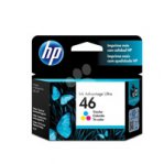 CARTUCHO DE TINTA HP 46 TRICOLOR   HASTA 750 PAGINAS CZ638AL  - TiendaClic.mx