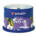 DVD R VERBATIM 4.7GB 16X BLANCO INK PRINTABLE C/50 - TiendaClic.mx