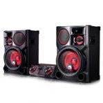 MINICOMPONENTE LG CJ98 3500 W CD/MP3/MULTIBLUETOOTH(3), MULTIUSB(2), KARAOKE STAR, EFECTOS VOCALES, LUCES LED, NEGRO - TiendaClic.mx