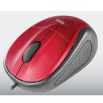 MOUSE OPTICO ALAMBRICO EASY LINE BY PERFECT CHOICE ROJO USB COMPATIBLE CON WINDOWS XP,VISTA,7  AND  MAC OS - TiendaClic.mx