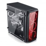 GABINETE GAMING YEYIAN (2HDD, 2SSD) CRIST TEMP LED ROJO MAYHEM 1200 - TiendaClic.mx