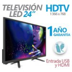TELEVISION LED GHIA 24PULG. G24HDX7 HD 720P 1 HDMI/ 1 USB/ 1 VGA/PC 60 HZ - TiendaClic.mx