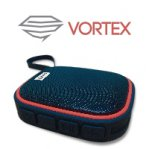 BOCINA BLUETOOTH WATERPROOF VORTEX GHIA NEGRA/ROJO 3W2 RMS AUX 3.5MM RADIO FM GAC-067 - TiendaClic.mx