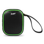 BOCINA BLUETOOTH WATERPROOF VORTEX GHIA NEGRA/VERDE 3W2 RMS AUX 3.5MM RADIO FM GAC-068 - TiendaClic.mx