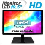 GHIA MONITOR LED MG2016 19.5 WS HD NEGRO VGA / BOCINAS ESTEREO INTEGRADAS - TiendaClic.mx