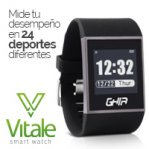 GHIA SMART WATCH VITALE/ 1.28 TOUCH/ WATERPROOF/ BT/ IOS/ ANDROID/ NEGRO - TiendaClic.mx