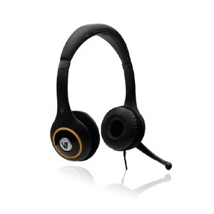DELUXE HEADPHONE W/ VOLUME CONTROL   MIC - TiendaClic.mx