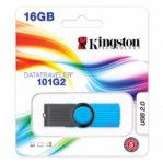 MEMORIA KINGSTON 16GB USB 2.0 DATA TRAVELER G2 AZUL - TiendaClic.mx