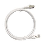 Patch Cord Cat6A 10G blindado  2M ( 6.25 ft ) BLANCO - TiendaClic.mx