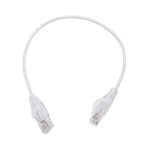 Cable de Parcheo Slim UTP Cat6 - 30 cm Blanco, Diámetro Reducido (28 AWG) - TiendaClic.mx