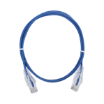 Cable de Parcheo Slim UTP Cat6 - 1 metro, Azul, Diámetro Reducido (28 AWG) - TiendaClic.mx