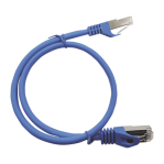 Patch Cord Cat6A 10G blindado 7.0M ( 22.96 ft )  AZUL - TiendaClic.mx