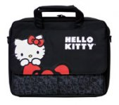 MALETIN TECH ZONE MESSENGER 15.4 HELLO KITTY NEGRO - TiendaClic.mx