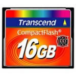 MEMORIA CARD COMPACTFLASH 16 GB 133X TRANSCEND - TiendaClic.mx