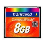 MEMORIA CARD COMPACTFLASH 8 GB 133X TRANSCEND - TiendaClic.mx