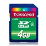 MEMORIA CARD SD HIGH CAPACITY 4 GB (CLASE 4) TRANSCEND - TiendaClic.mx