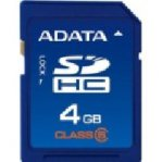 MEMORIA CARD SECURE DIGITAL 4 GB CLASE 4 ADATA - TiendaClic.mx
