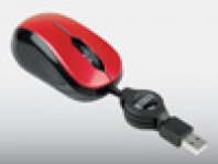 MINI MOUSE OPTICO RETRACTIL PERFECT CHOICE ROJO USB - TiendaClic.mx