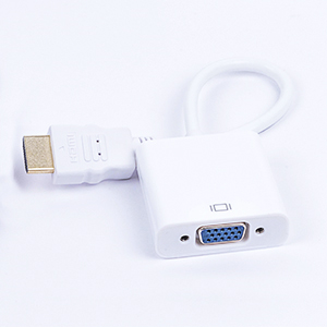 CABLE CONVERTIDOR NACEB DE HDMI A VGA,CABLE DE AUDIO,BLANCO - TiendaClic.mx