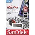 MEMORIA SANDISK 16GB / USB 3.0 / ULTRA FLAIR /  METALICA - TiendaClic.mx