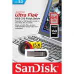 MEMORIA SANDISK 64GB / USB 3.0 / ULTRA FLAIR / METALICA  - TiendaClic.mx