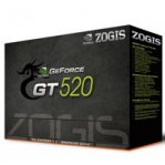 T.DE VIDEO ZOGIS GEFORCE GT520 FERMI 1GB/64BIT DDR3 PCIE DVI/VGA/HDMI SLI W7 - TiendaClic.mx