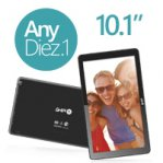 "GHIA TABLET ANY 10.1"" / QUADCORE 1.3GHZ / 1GB / 16GB / 2CAM / WIFI / ANDROID 5.1/ BT / NEGRA - TiendaClic.mx"