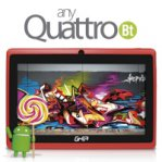 "TABLET GHIA ANY  QUATTRO / 7 "" / BT / QUAD CORE / 1GB / 8GB / ANDROID 5.1 / ROJA - TiendaClic.mx"