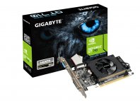 TARJETA DE VIDEO  GIGABYTE PCIE X8 2.0 NVIDIA GEFORCE GT 710 / 1GB / DDR3 / 954 MHZ / 64BIT / DVI /HDMI / VGA / LOW PROFILE - TiendaClic.mx