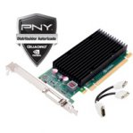 T.DE VIDEO PNY PCIE X16 2.0 QUADRO NVS300 LOW PROFILE 512MB/64BIT DDR3 DMS-59/2 ADAP DVI/2 ADAP VGA - TiendaClic.mx