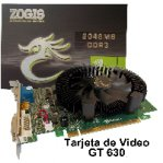 T.DE VIDEO ZOGIS GEFORCE GT630 2GB/128BIT DDR3 PCIE2.0 DVI/VGA/HDMI SLI W7 - TiendaClic.mx