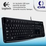 TECLADO LOGITECH K120 NEGRO ALAMBRICO USB PC / WINDOWS RESISTENTE A DERRAMES - TiendaClic.mx