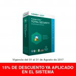 KASPERSKY TOTAL SECURITY MULTIDI 2017 3 + 1USER KL1919ZBDFS-8  - TiendaClic.mx