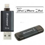 MEMORIA TRANSCEND JETDRIVE GO 300 32GB PARA IPHONE/IPAD LIGHTNING/USB3.1 NEGRO - TiendaClic.mx