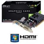 T.VIDEO PNY PCIE X16 2.0 GEFORCE GT610 LOW PROFILE 1GB/64BIT DDR3 DVI/VGA/HDMI - TiendaClic.mx