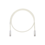 Cable de Parcheo UTP, Cat6A, 26 AWG, CM, Color Blanco Mate, 10ft - TiendaClic.mx