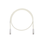 Cable de Parcheo UTP, Cat6A, 26 AWG, CM, Color Blanco Mate, 3ft - TiendaClic.mx