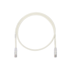 Cable de Parcheo UTP, Cat6A, 26 AWG, CM, Color Blanco Mate, 5ft - TiendaClic.mx