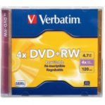 VERBATIM DVD RW 4.7GB 4X BRANDED INDIVIDUAL (SLIM CASE) - TiendaClic.mx