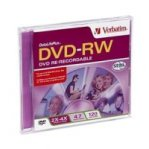 VERBATIM DVD-RW 4.7GB 4X BRANDED INDIVIDUAL (SLIM CASE) - TiendaClic.mx