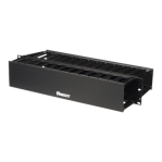 Organizador de Cables Horizontal PatchLink, Doble (Frontal y Posterior), Para Rack de 19in, 2UR - TiendaClic.mx